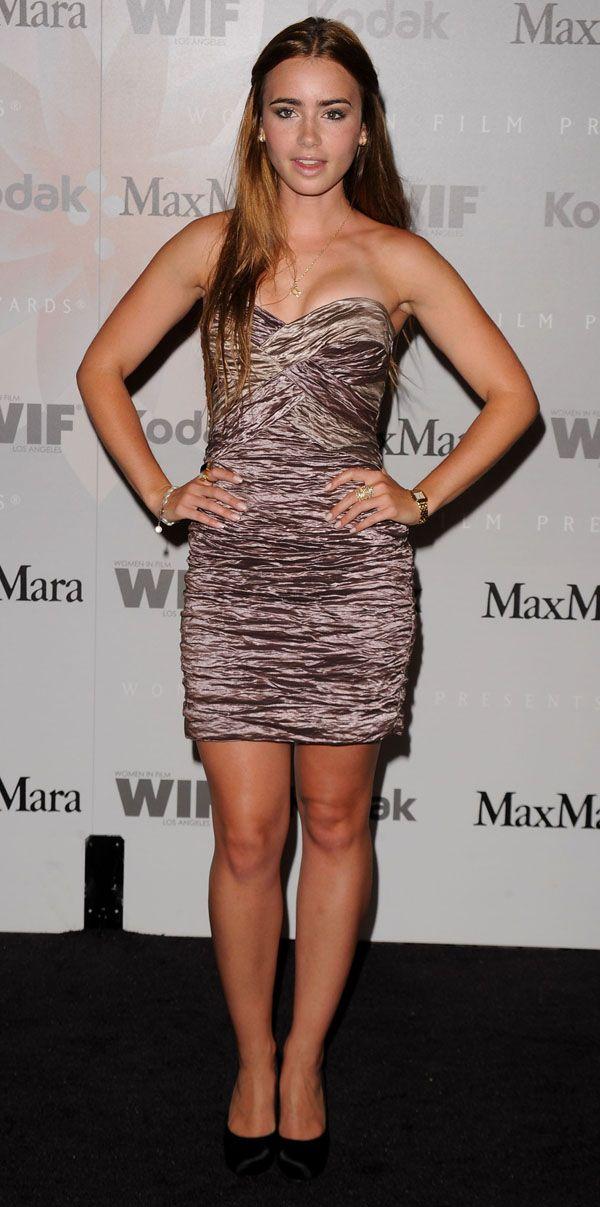 Lily Collins June 2010 Strapless Dress Formal Fashion Formal Dresses