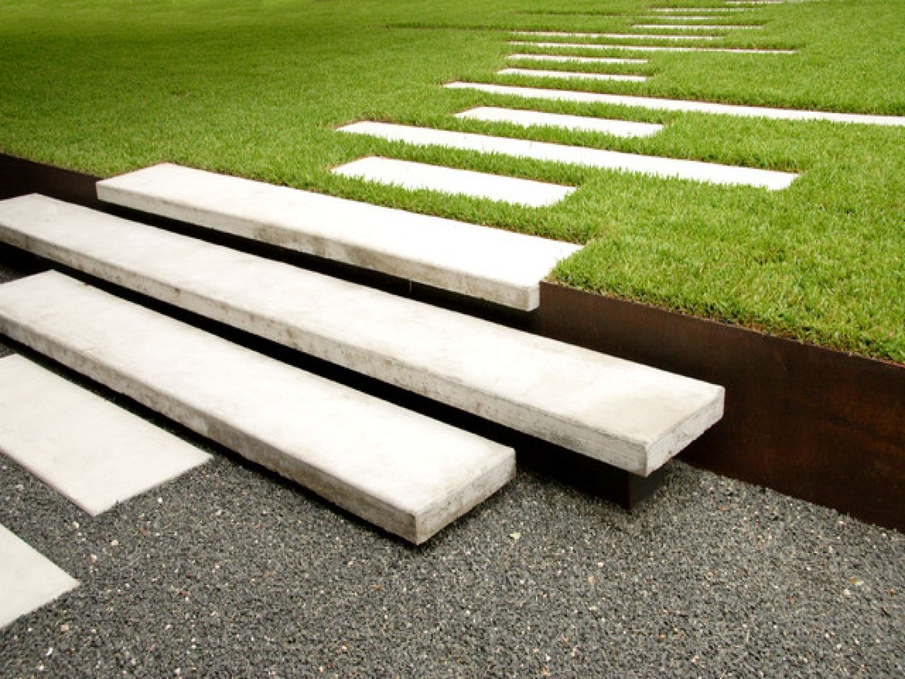 Best Modern Concrete Landscape Steps Landscape Stepping Stones 400 x 300