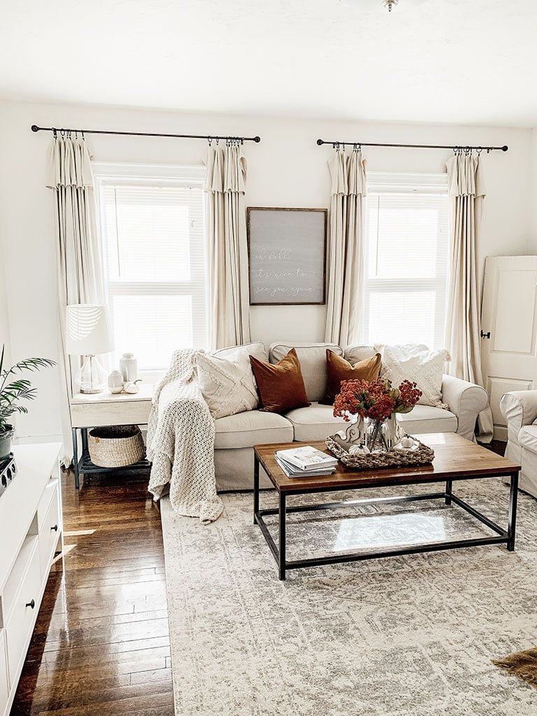 Fall Living Room Tour How to add Fall Color (With images
