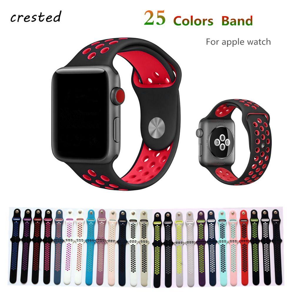 Silikonband Fur Apple Uhrenarmband 42mm 38mm Armband Sport Handgelenk Gurtel Gummiuhre Apple Watch Bands Fashion Apple Watch Wristbands Apple Watch Accessories