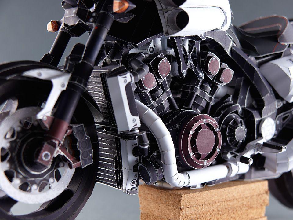 ペーパークラフト バイク