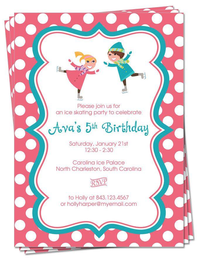 PRINTABLE Ice Skating Party Invitation Birthday by palmettomama ...
