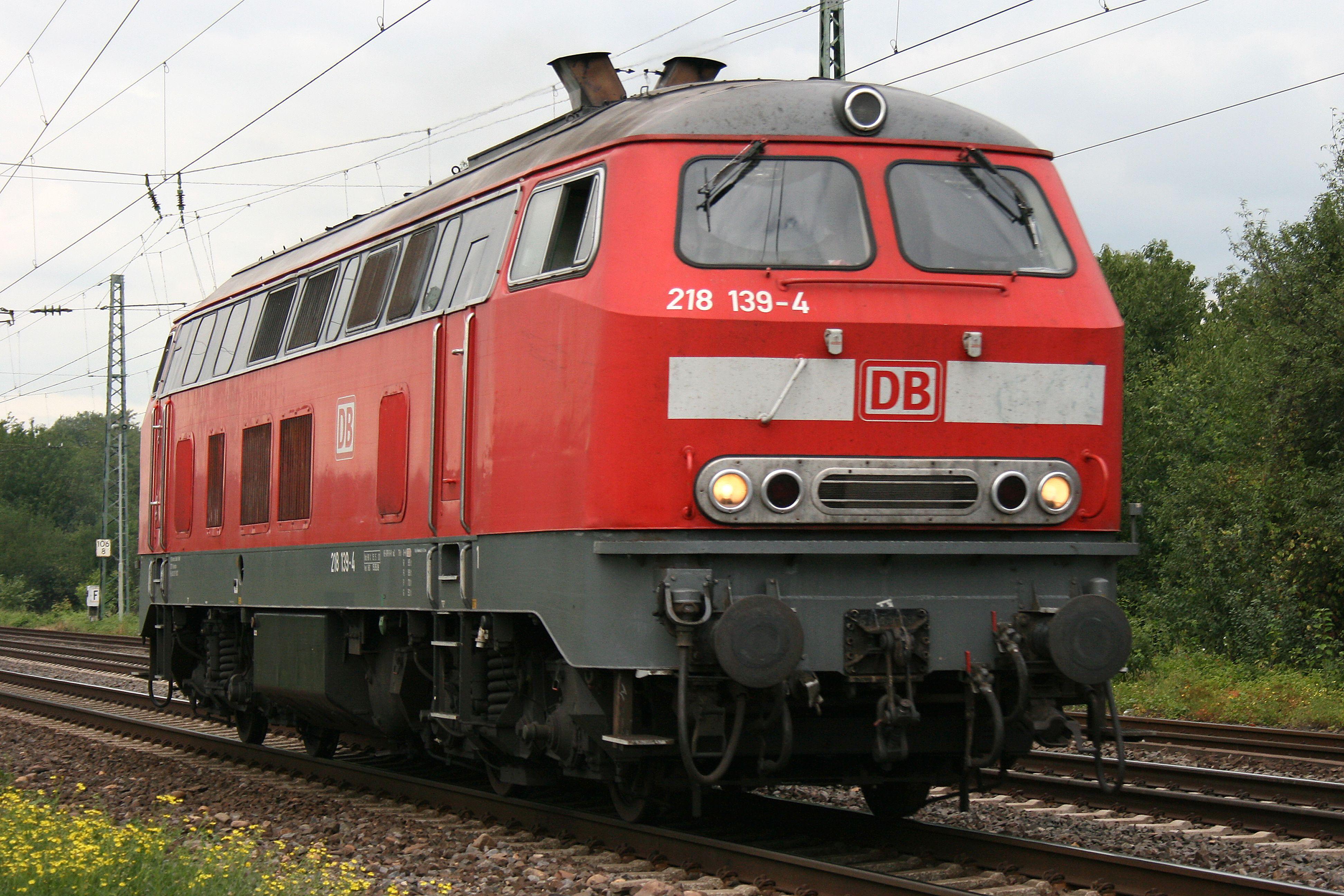 DB Germany diesel loc Baureihe_218_1394. 鉄道, 交通