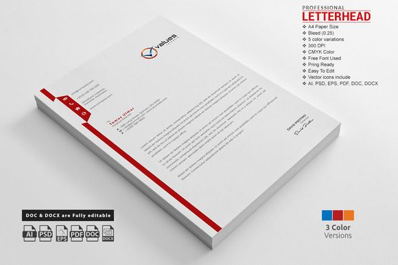 Free Resume Templates » free blue letterhead template download new