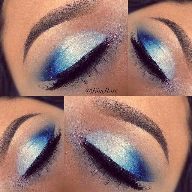 Instagram Photo By Kimjluv Kim J Luv Via Iconosquare Cheer Makeup Blue Makeup Patriotic Makeup