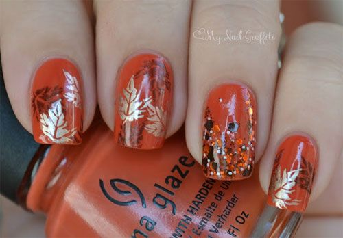 Latest Autumn Nail Art Designs Trends Fashion For Girls 2013 2014 1