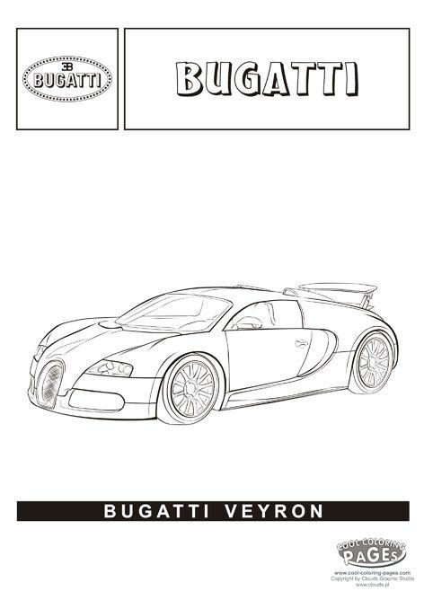 Bugatti Veyron - Cars coloring pages | Páginas para colorear