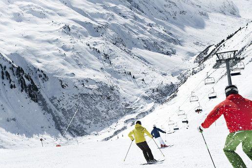 Rifflsee Pitztal: Skigebiet und Freeride Geheimtipp in Mandarfen in den Pitztaler Alpen