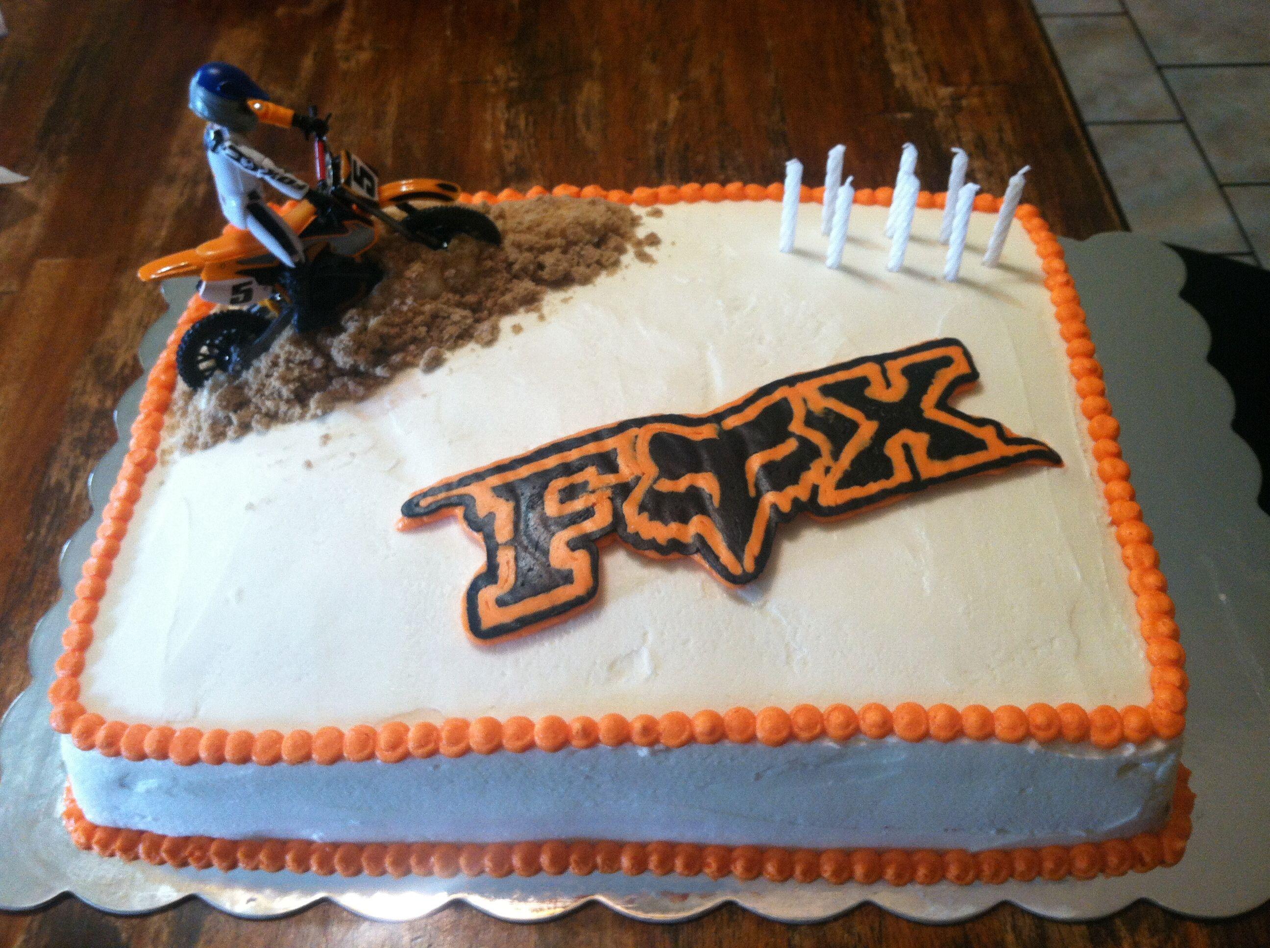 Fox Racing Cake Dirt Bike Cakes Bike Cakes Racing Cake