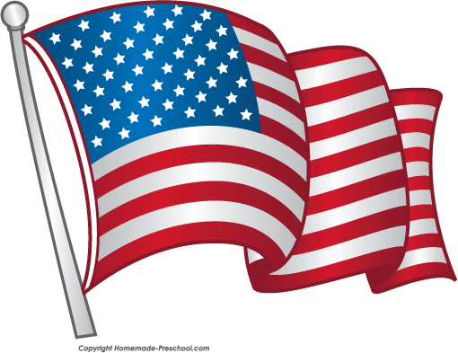 4th of july flag. Free american flags clipart