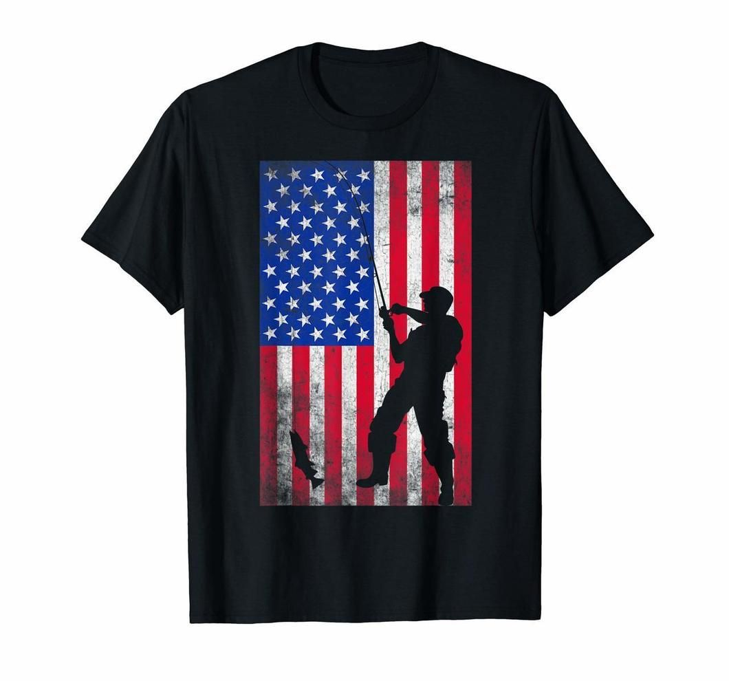 Fishing American Flag Shirt 4th Of July T Shirt Tshirts20200218 In 2020 American Flag Shirt Shirts Flag Shirt
