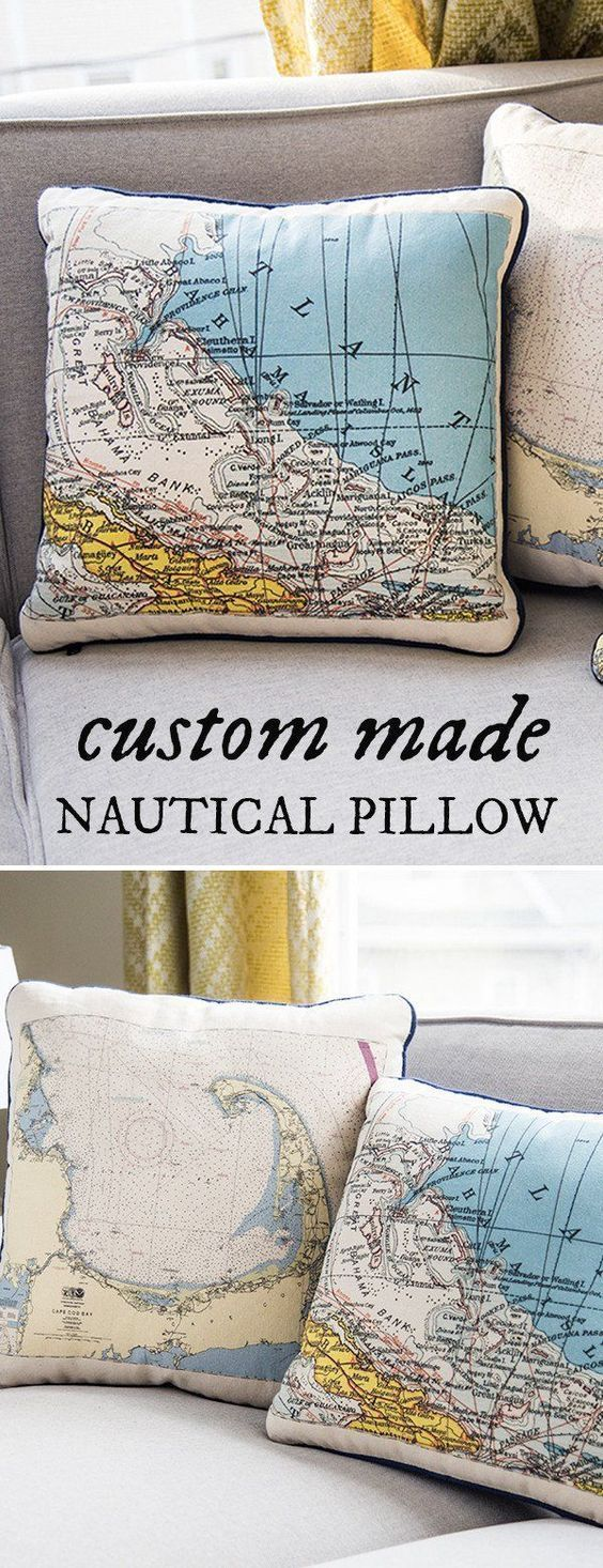 Custom nautical pillow by not for navigation house pinterest