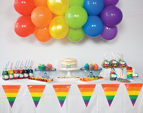 Rainbow Birthday Theme Childrens Birthday Party Theme For Boys