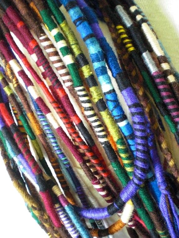 Custom striped hair wrap extension thick yarn atebas single ended custom striped hair wrap extension thick yarn atebas single ended loop braid in dread accessory many pmusecretfo Image collections