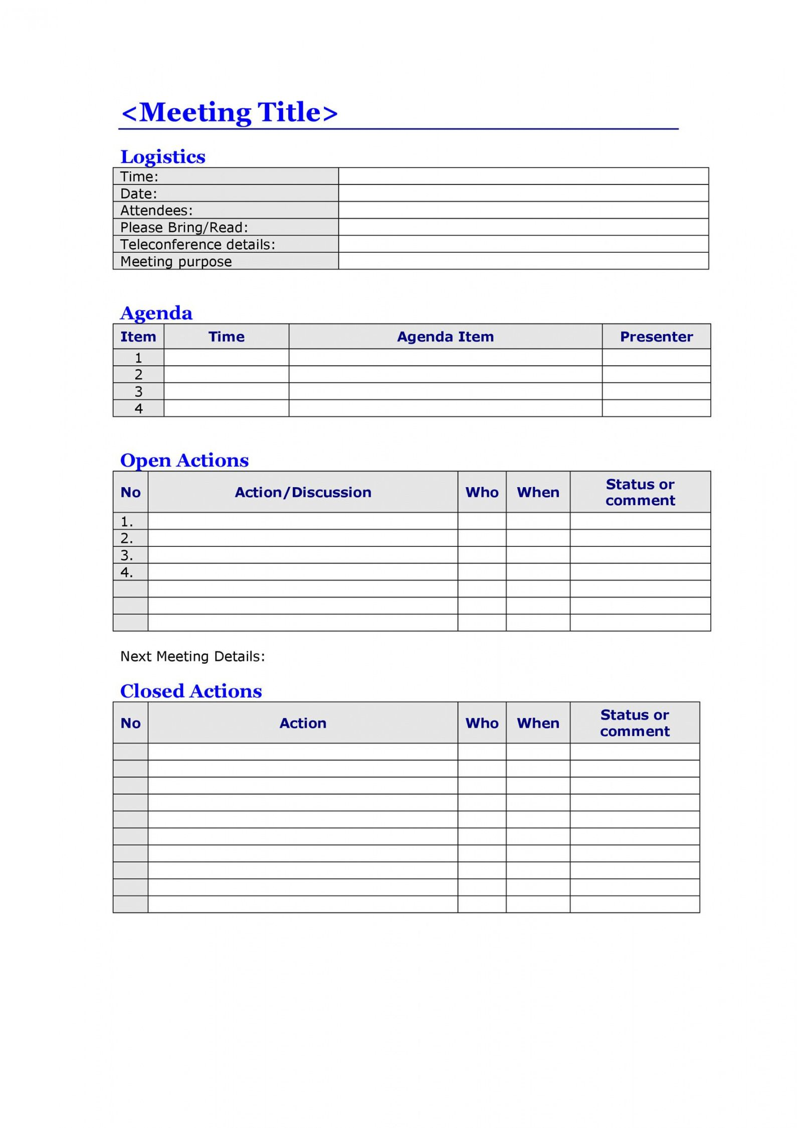 Microsoft agenda templates provide an easy way to organize items to keep your meeting or event on schedule. Printable 46 Effective Meeting Agenda Templates Á… Templatelab Multi Day Meeting Agenda Templa Agenda Template Meeting Agenda Template Meeting Agenda