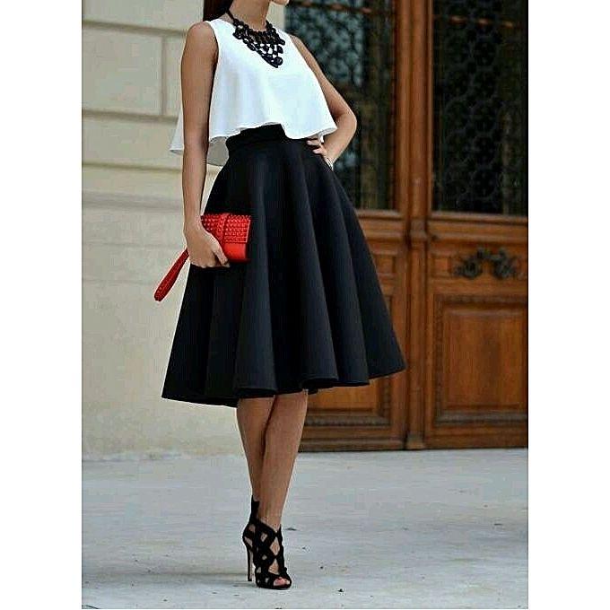 4869a89eb7 Buy - Women's short fancy round skirt-Black @ Best Price Online - Jumia  Uganda