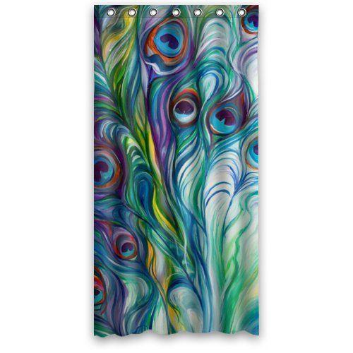 Beautiful Peacock Shower Curtain Hotstyle Peacock Feather Bathroom