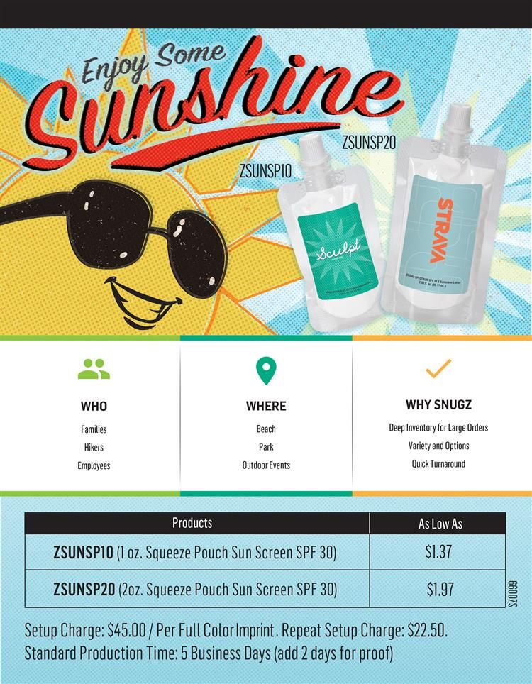 Sunscreen From Snugz Usa Sunblock How To Apply Squeeze Pouch