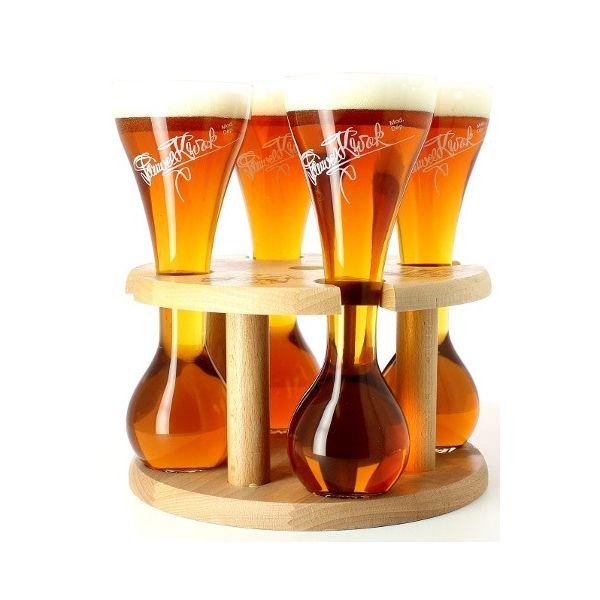 verre a biere kwak avec support en