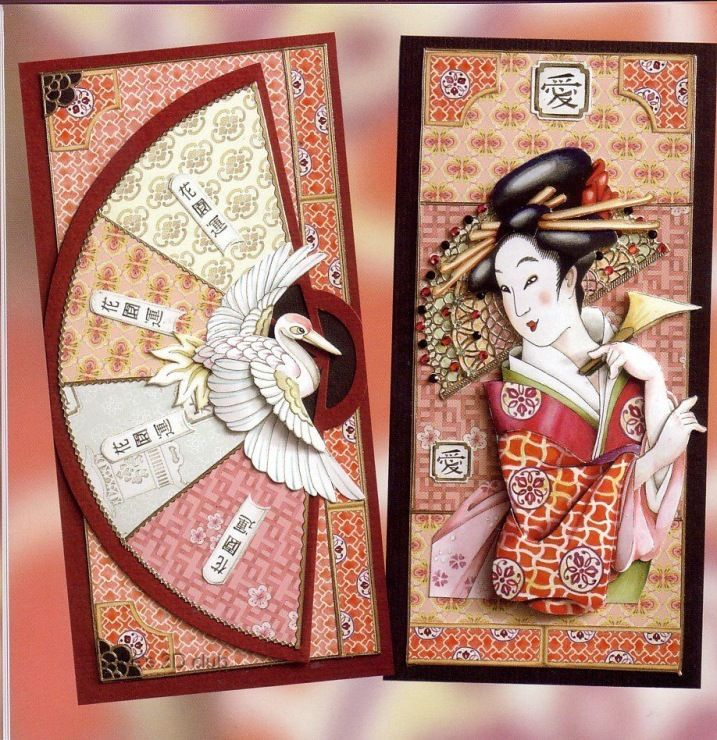 Открытка по японски, балетные
