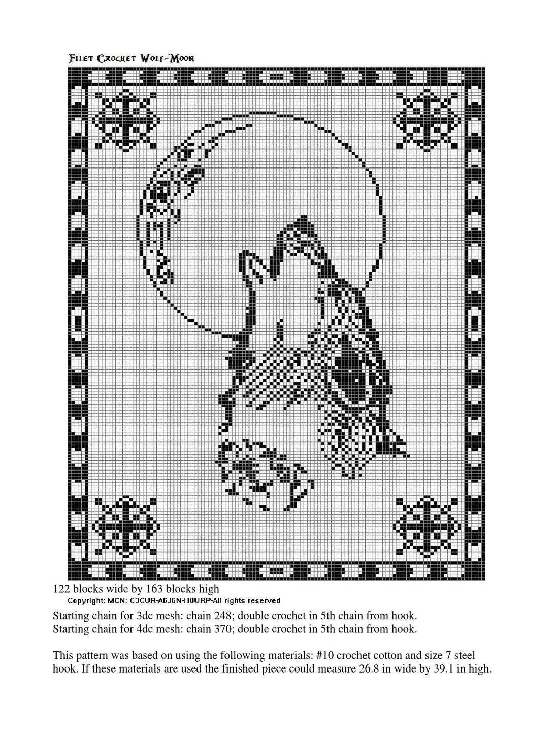 Filet Crochet Western Themes