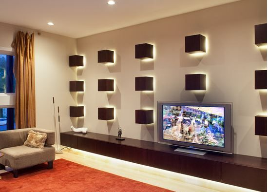 Decoration The Cute Living Room Design With A Smart Television Lighting Ideas For An Empty