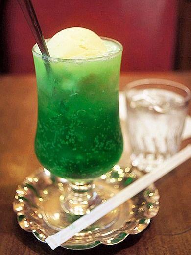 クリームソーダ Japanese Cream Soda ドリンクレシピ 食べ物のアイデア クリームソーダ