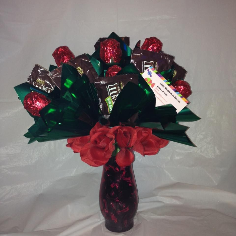 Chocolate bouquet on pinterest candy flowers bouquet of chocolate - Find This Pin And More On Candy Bouquets By Kristen Just Because Bouquet Chocolate