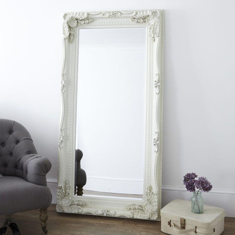 Decorative Cream Full Length Mirror In 2020 Floor Standing