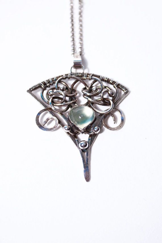 Angharradh silver wire wrapped unique necklace by MorennDesigns ...