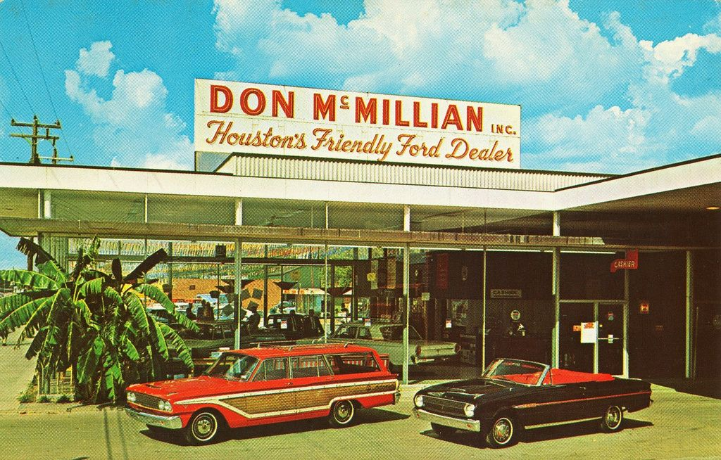 Don Mcmillian Ford Houston Tx 1963 Car Dealership Vintage