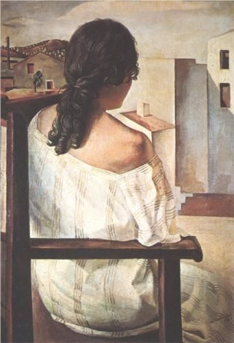 Seated Girl Seen from the Back - Salvador Dali  1928