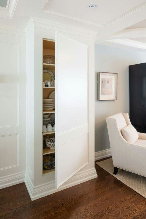 Hidden Closet In Wall Pillar Home Hidden Cabinet Hidden Rooms #pillar #in #living #room
