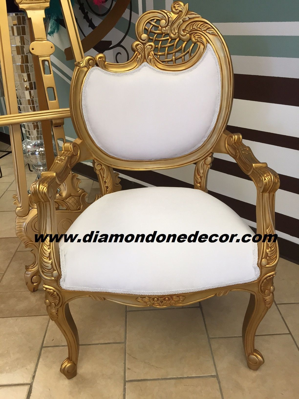 Gisele Fabulous Baroque Louis Xvi White Velvet French Reproduction Rococo Chairs In