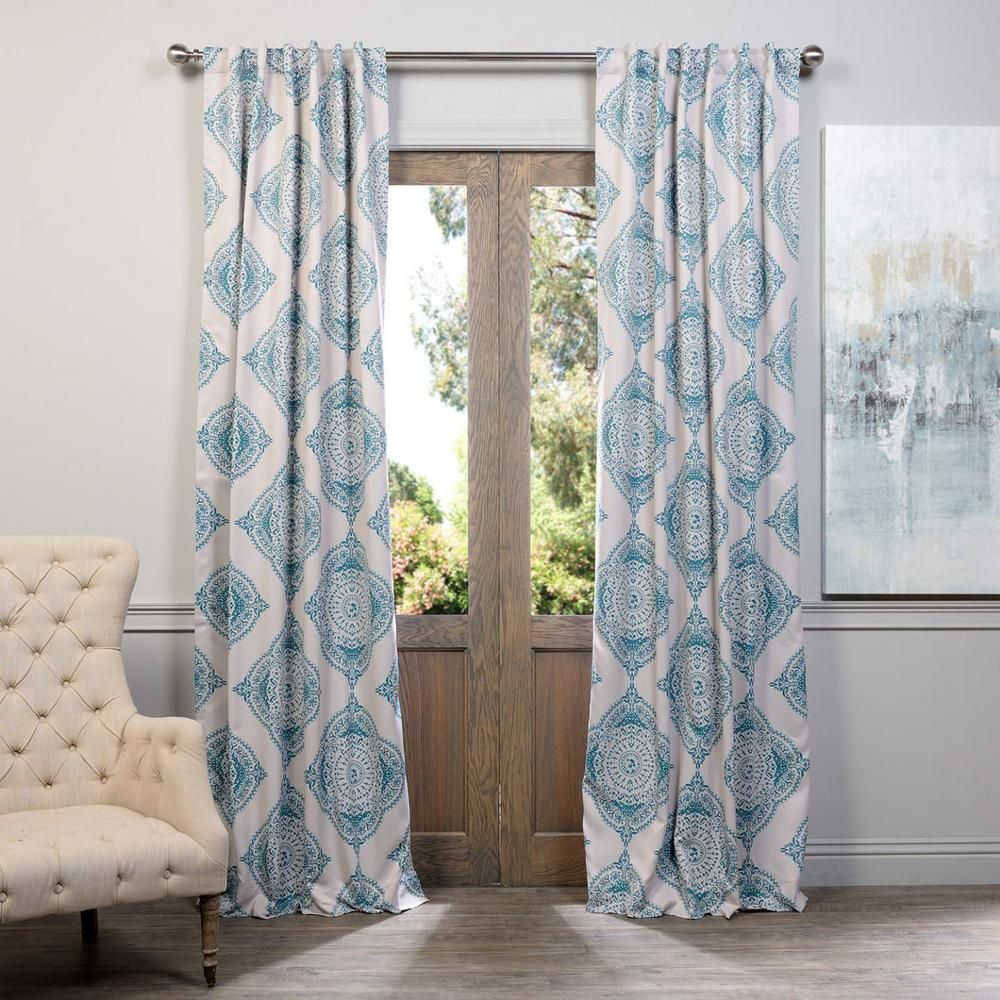 Teal Blackout Curtains Exclusive Fabrics Furnishings Semi Opaque Henna Teal Blue