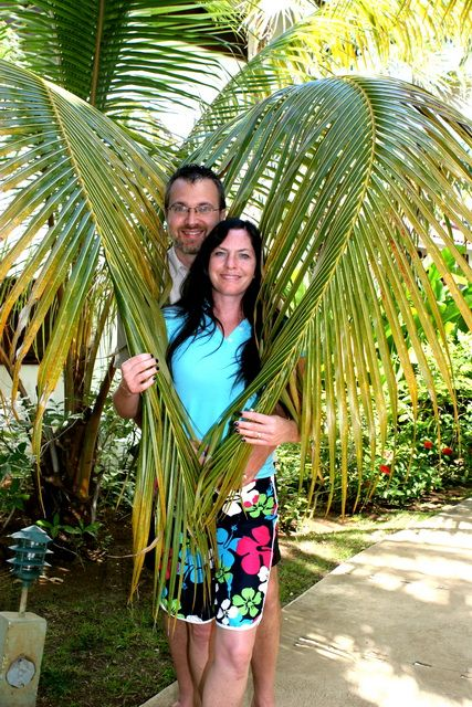 This is the palm tree just outside our bedroom door at Couples Swept Away in Negril, Jamaica.  If you are looking for a warm get-away with AMAZING food - CSA is highly, highly recommended!