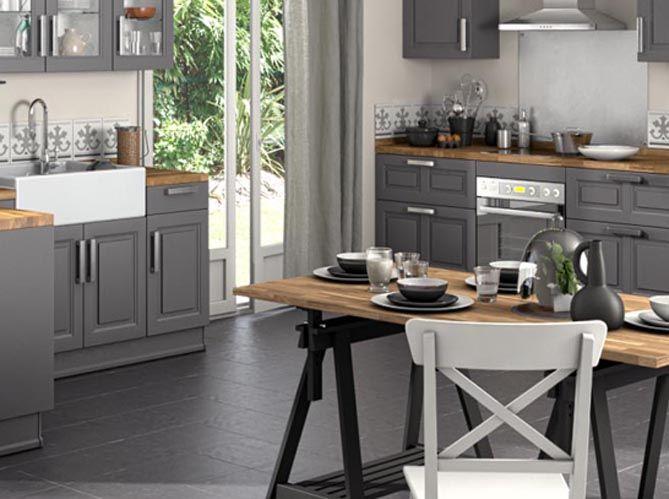 Idée Déco Une Grande Table Sur Tréteaux Déco Cuisine - Grande table de cuisine pour idees de deco de cuisine