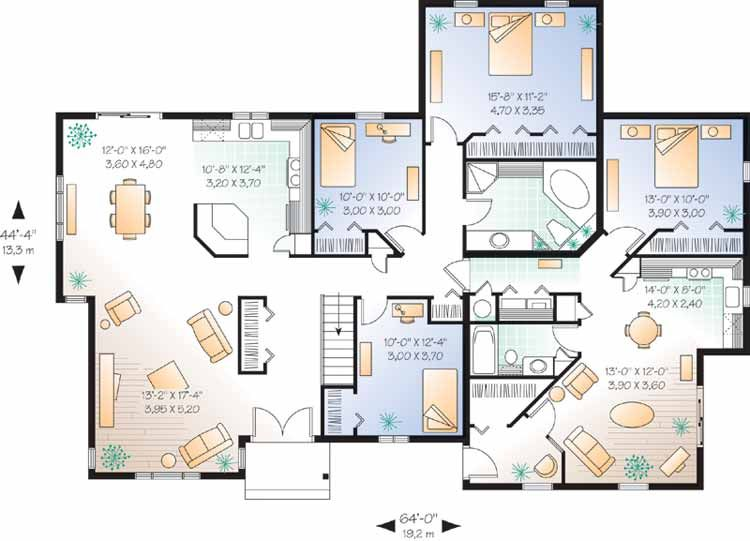 House plans for multi generational families duplex great for Multiplex floor plans
