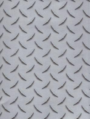 Diamond Plate Metallic Silver Wallpaper