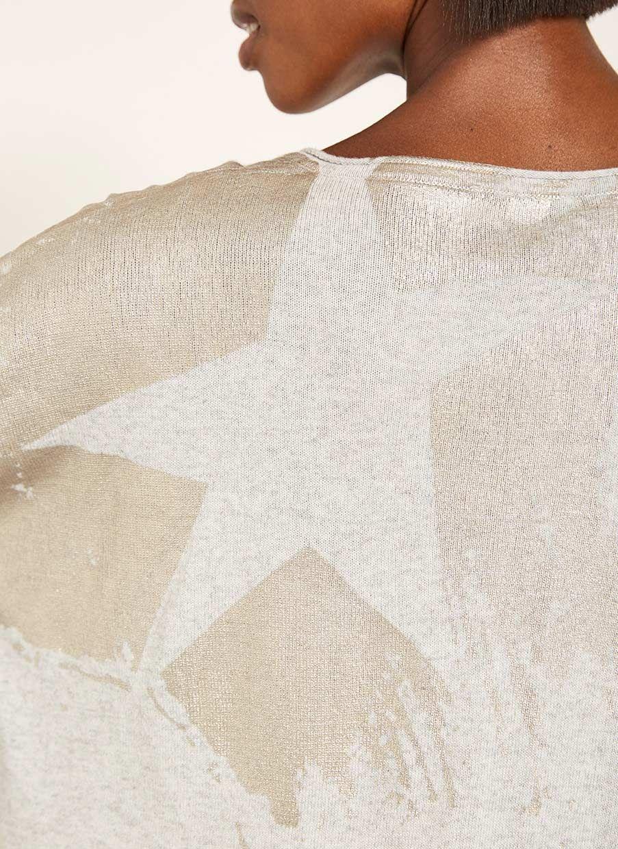 64cf8f7b324 Foil Paintbrush V-Neck Knit | NEW ARRIVALS | V neck, Paint brushes ...