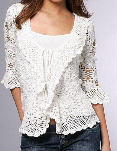 Pattern Only Crochet Women Summer Jacket Cardigan Pattern Only