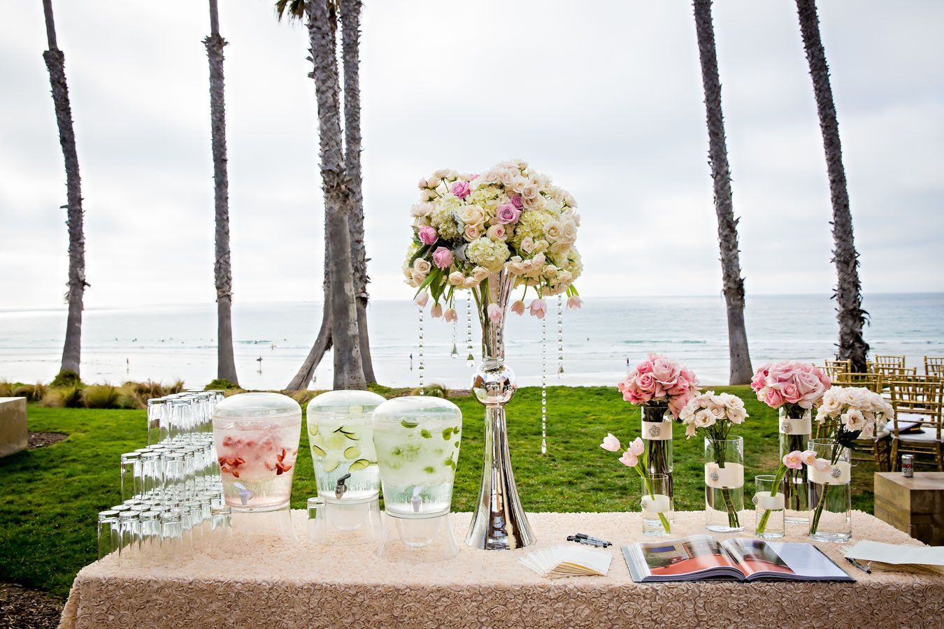 Pre-Ceremony Water Station at Scripps Seaside Forum
