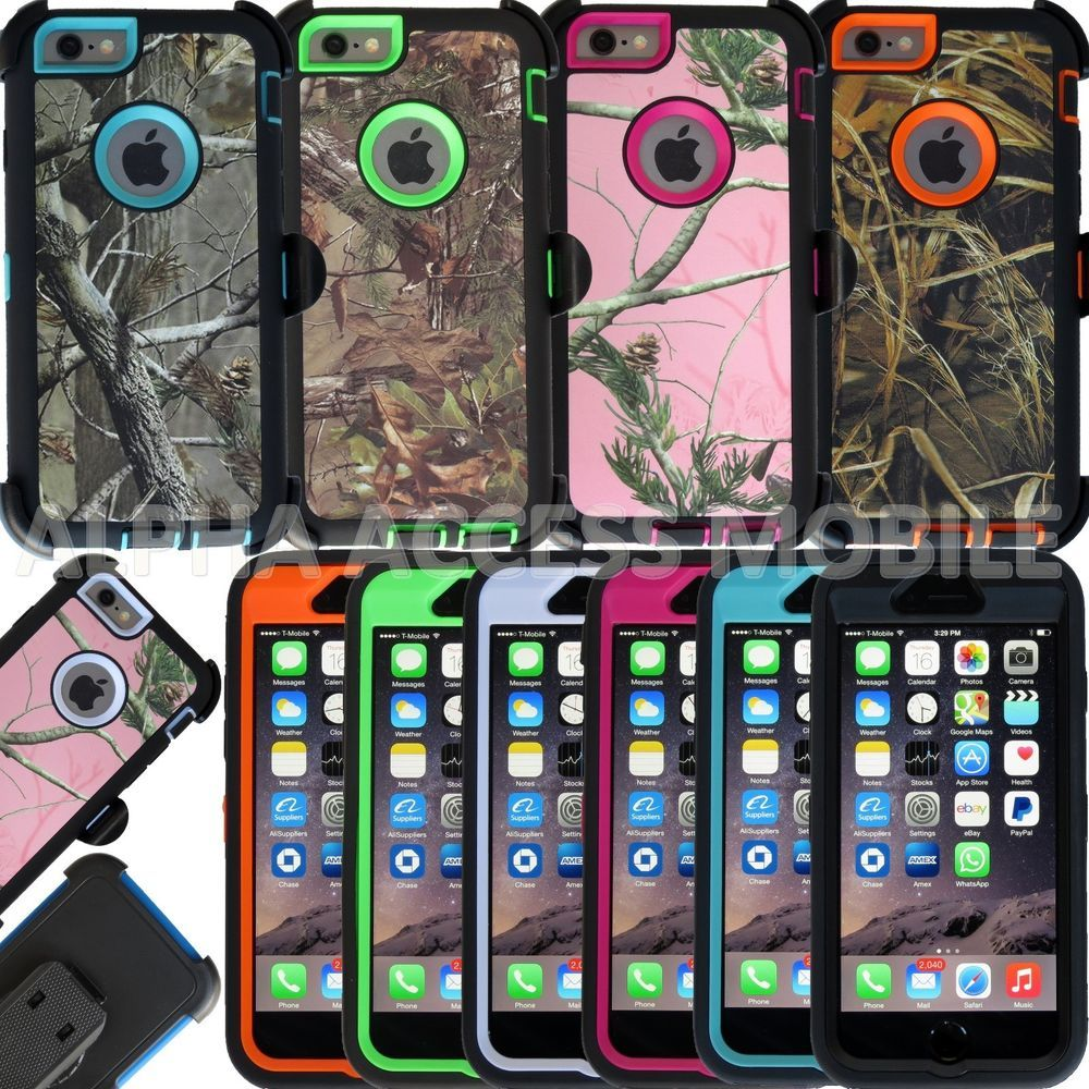Heavy duty hybrid camo case with belt clip for apple