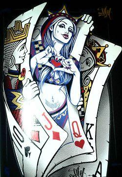 Queen of Hearts | Art in 2019 | Card tattoo, Art, Queen of ...