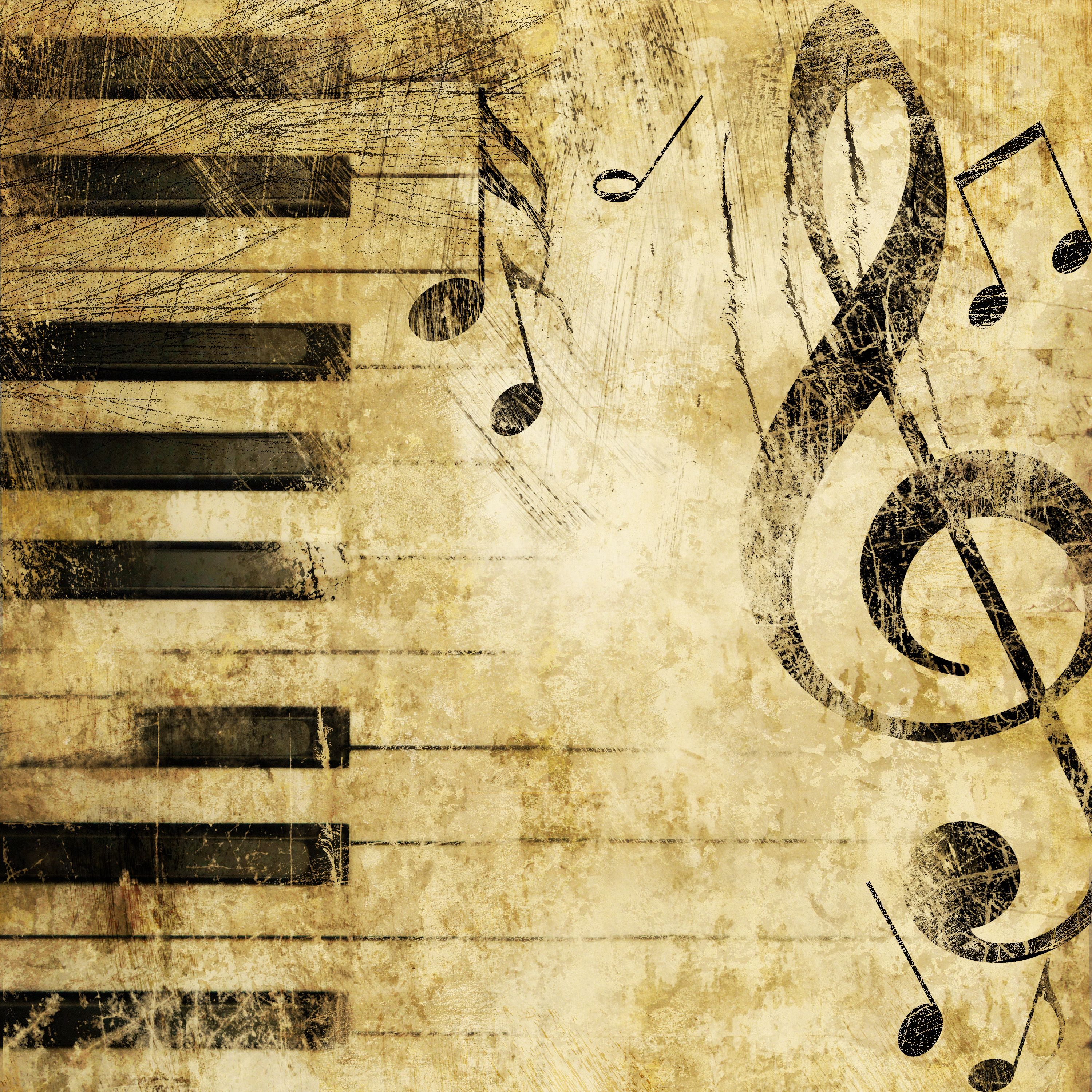 Download Wallpaper piano, Treble clef, music, texture, section ...