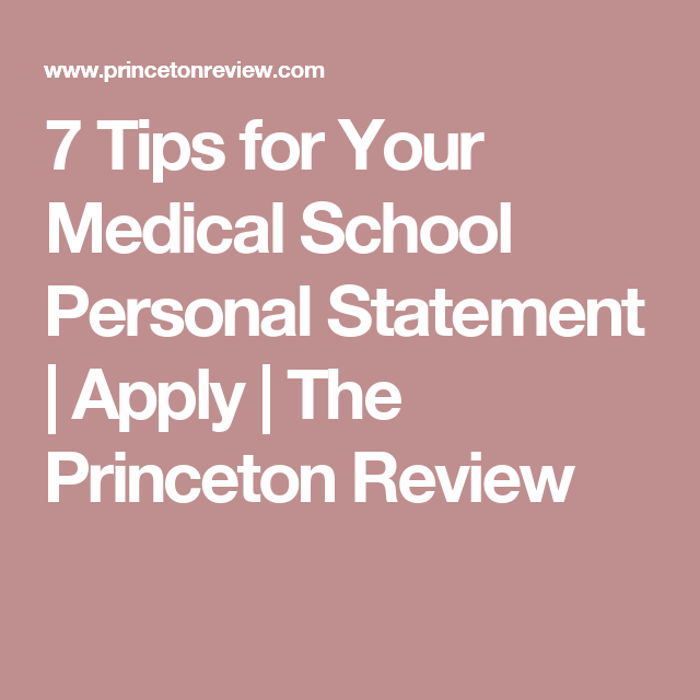 Tips For Your Medical School Personal Statement  Apply  The