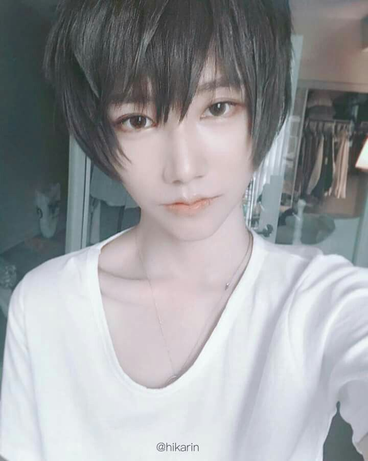 Cn Hikarin 男装メイク コスプレ モデル