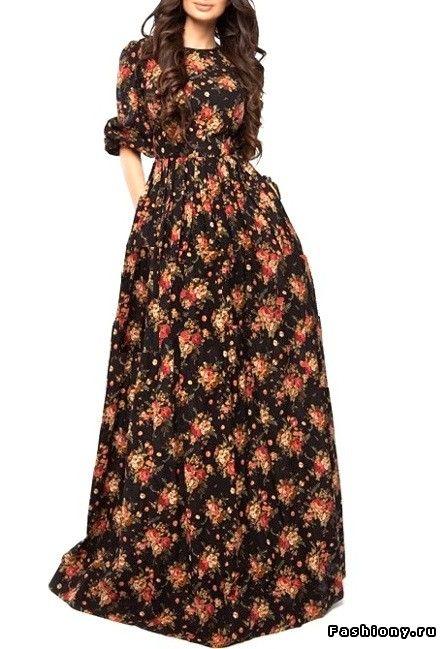 e89d5c3fa69 Платья в пол на каждый день   плисерованные платья в пол