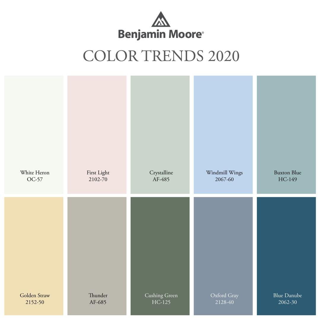 Benjamin Moore On Instagram The Benjamin Moore Color Trends 2020