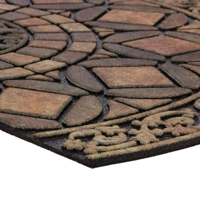 Mohawk Home Gothic Iron Brown 23 in. x 35 in. Door Mat-164812